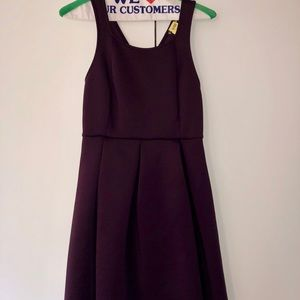 Express Dresses - Express Dark Purple Skater Dress 192153b20